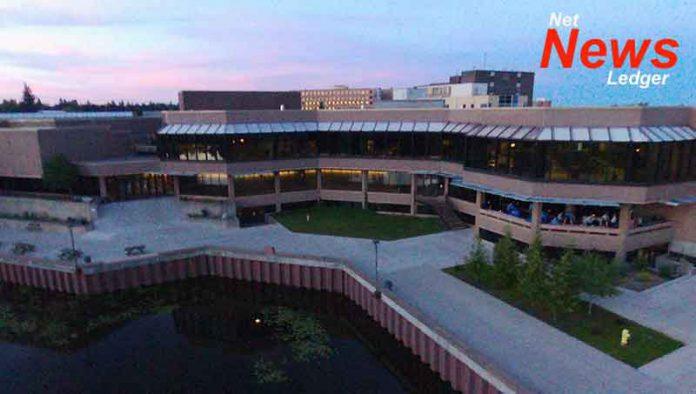Lakehead University Campus with Lake