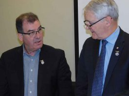 Kenora MP Bob Nault and Minister of Transport Marc Garneau