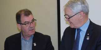 Kenora MP Bob Nault and Minister of Transport Marc Garneau