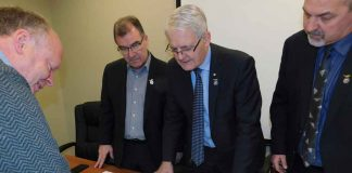 Minister of Transport Marc Garneau and Kenora MP Bob Nault received overview of plans for Red Lake Airport