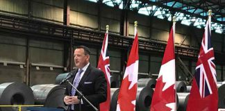 Minister Greg Rickford announces $60 million in a repayable loan to Algoma Steel