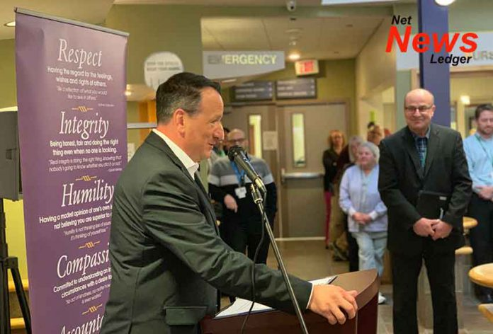 Minister Greg Rickford announces new Hospice Beds in Dryden