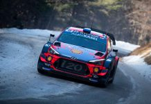 Sebastien Loeb (FRA) Daniel Elena (MCO) of team Hyundai Shell Mobis WRT is seen racing on special stage 10 during the World Rally Championship Monte-Carlo in Gap, France on January 26, 2019 - Ivo Kivistik / Red Bull Content Pool