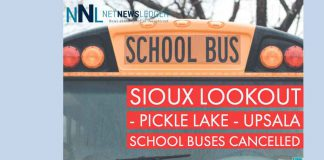 School Buses Cancelled for Pickle Lake, Sioux Lookout, and Upsala