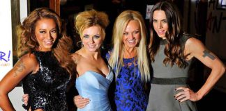 "ARCHIVE IMAGE: Spice Girl members Melanie Brown (L-R), Geri Halliwell, Emma Bunton and Melanie Chisholm arrive for the premiere of the musical ""Viva Forever!"", based on the music of the Spice Girls, in central London December 11, 2012. REUTERS/Toby Melville"