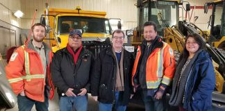 MP Bob Nault and Webequie Chief Wabasse at the airport