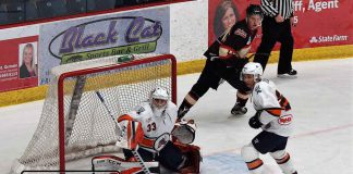Thief River Falls Norskies goalkeeper Bailey Schmitz has been named its Play It Again Sports Player of the Week