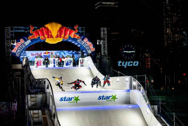 Action from Fenway Park in Boston - The first stadium event for Red Bull Crashed Ice Limex Images