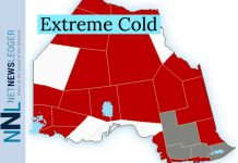 Wind chill minus 39 in the morning and minus 29 in the afternoon. Risk of frostbite. UV index 2 or low.