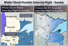 National Weather Service is forecasting up to a foot of snow with strong winds