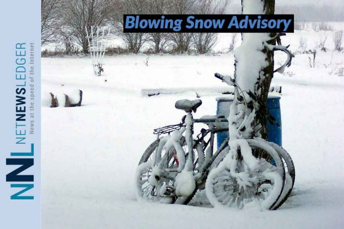 Winter Storm Advisory lifted. Blowing Snow Advisory in Effect