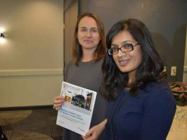 Fredrika Scarth and Nila Sinnatamby, Director and Sr Policy Advisor for the Premier's Council on Improving Health Care and Ending Hallway Medicine presented to the Keewatin Technical Table Monday in Toronto.