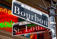 New Orleans LA BOURBON STREET SIGN