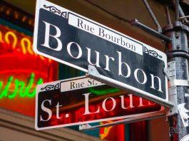 New Orleans LA BOURBON STREET SIGN