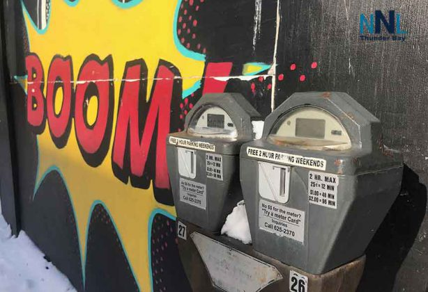 "Does paying for parking meters take the ""boom"" out of downtown shopping?"