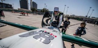 Members of Cashback World Racing Team prepare their pilot Pete McLeod of Canada for his flight during the finals at the first round of the Red Bull Air Race World Championship at Abu Dhabi, United Arab Emirates on February 9, 2019. Photographer Credit: Predrag Vuckovic/Red Bull Content Pool