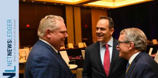Premier Doug Ford with Kentucky's Gov. Matt Bevin and Ohio's Gov. Mike DeWine at the National Govenorss Association Winter Meeting in Washington