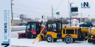 City of Thunder Bay Sidewalk plows and graders both will be busy clearing snow it appears