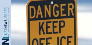 Stay off the ice - Its dangerous