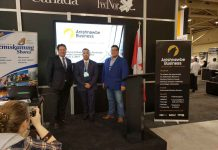 Brian Davey, Jason Rasevych and Jason Thompson at PDAC with Aboriginal Business Professional Association