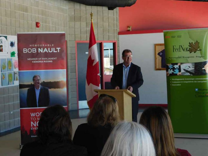 Kenora MP Bob Nault in Red Lake