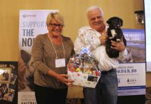Frank Kelner and Tia recognized at Ontario SPCA event in Thunder Bay