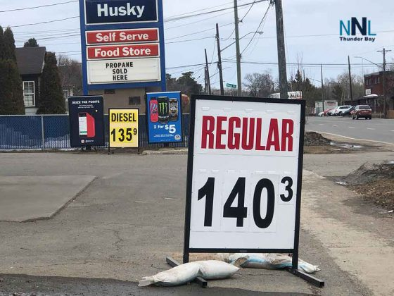 Gas prices have jumped in Thunder Bay and across Northwestern Ontario