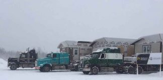Mobile Homes being shipped to Cat Lake