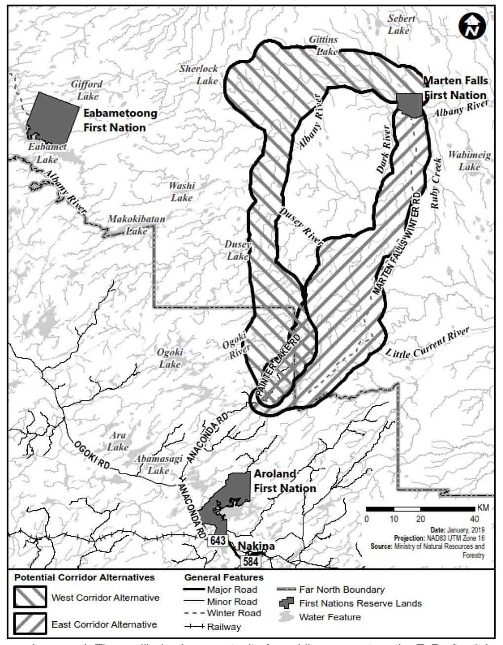 Marten Falls Community Access Road Map