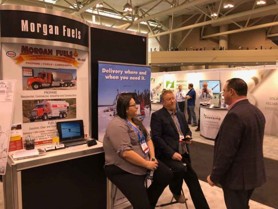 Representatives from Morgan Fuels meet with prospective clients at international mining convention in Toronto.