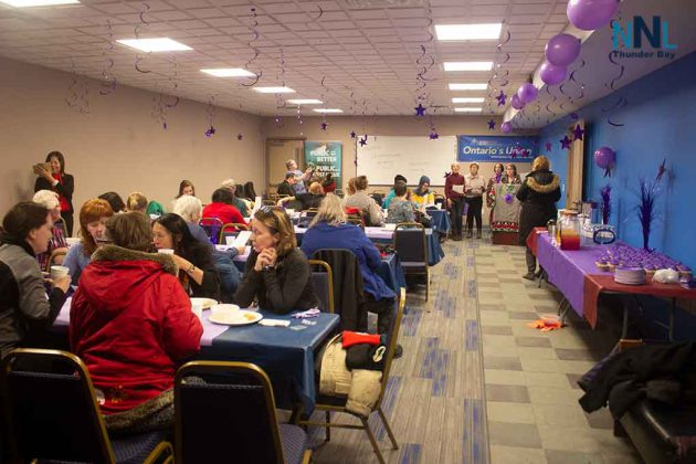 It was a full house of supporters at the International Women's Day Event at OPSEU in Thunder Bay