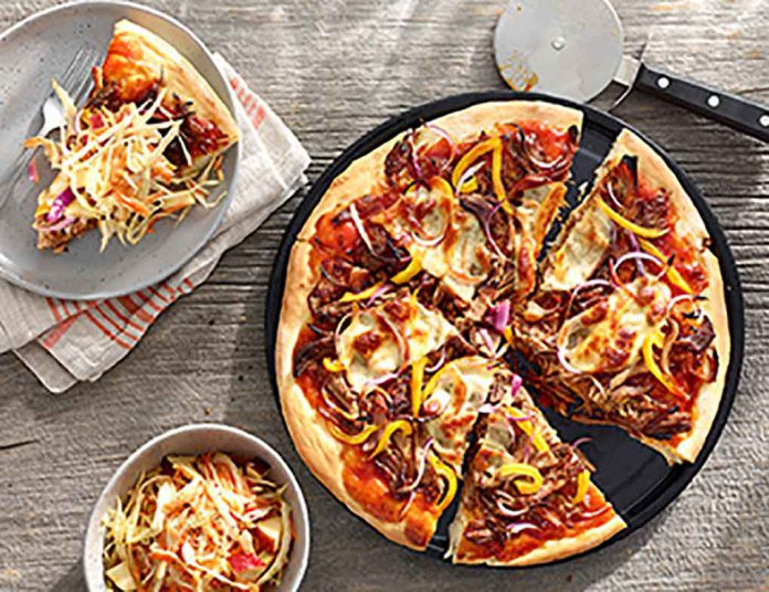Pulled Pork Pizza with Tangy Slaw