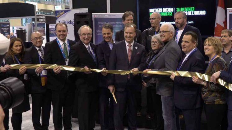 Ribbon Cutting at PDAC 2019 in the FedNor area featuring Northern Ontario Businesses