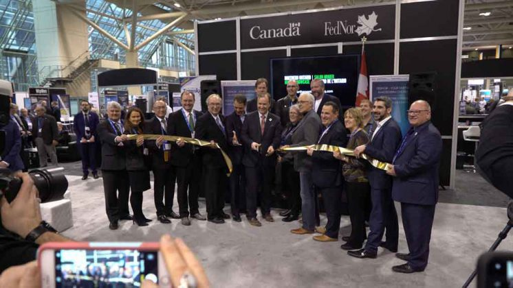 MPs, Mayors and dignitaries at PDAC 2019 for the grand opening of the FedNor Business Zone