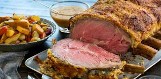 Prime Rib Beef Roast with Horseradish Crust The golden-brown horseradish crust adds a bit of sharpness to this tender juicy roast