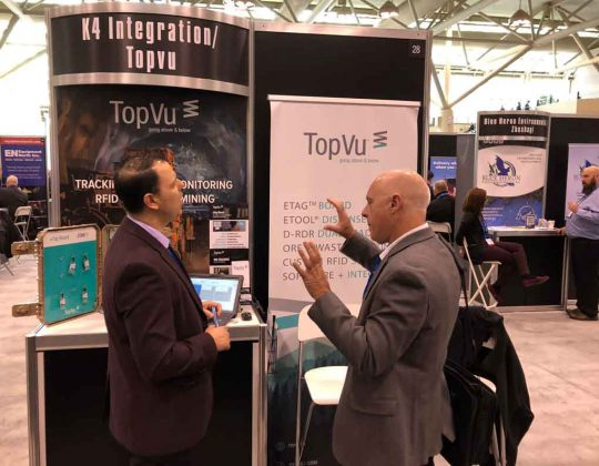 Yvan Brulé, Business Developer at TopVu, a company that services all of Northern Ontario, struck up new deals and networked with prospective clients