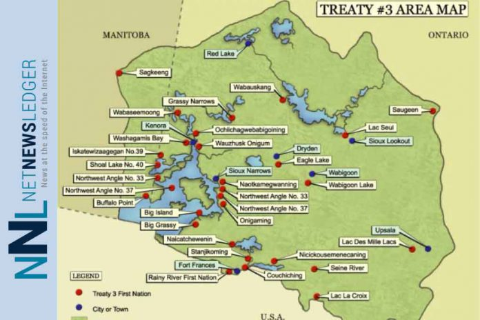 Map of Grand Council Treaty #3