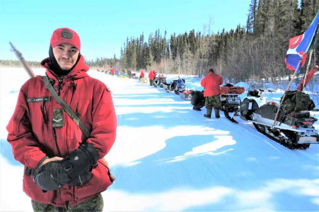 Ranger Quinton Anishinabie of Sandy Lake became a patrol commander for a day as part of the training near Muskrat Dam.