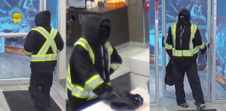 Thunder Bay Police released this image of the suspect in a robbery at the Copperfin Credit Union on South Brodie Street