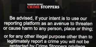 New policy at Thunder Bay Crimestoppers