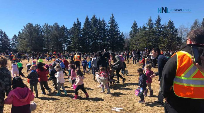 Hill City Kinsman's annual Easter egg hunt at Frank Charry Park