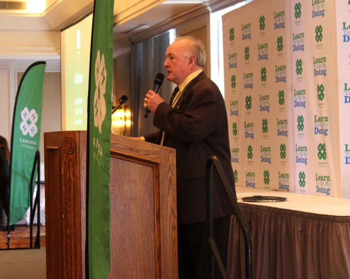 Jim Coombes honoured for sixty years of volunteering for 4-H Ontario