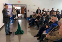 Minister Greg Rickford in Kenora making highway twinning announcement