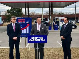 Gasoline Transparency Tax program announcement by Minister Greg Rickford