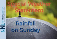Special Weather Statement for Rainfall on Sunday is in effect