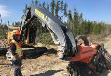 First Nations Trainees Impress Tigercat Reps in Ogoki Forest
