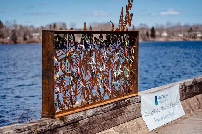 The new Wall of Remembrance that was commissioned by the Hike Committee to become a permanent art installation in Boulevard Lake Park