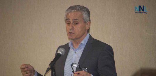 Mayor Bill Mauro at Town Hall Meeting at the Victoria Inn on May 13 2019