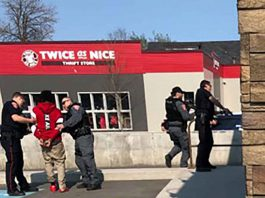 Thunder Bay Police took a suspect into custody at a South May Street restaurant on May 25, 2019
