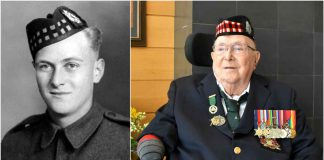 Allan Bacon in World War 2 and today